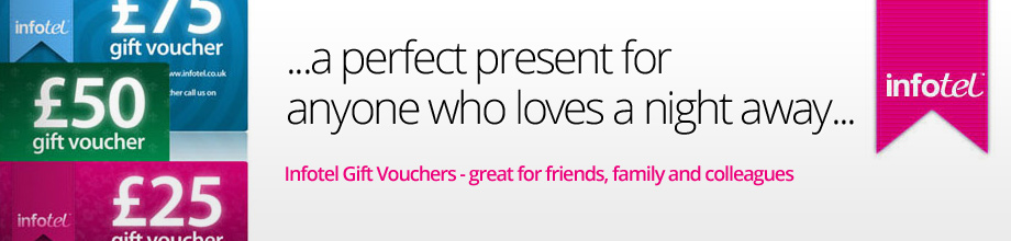Infotel Gift Vouchers - treat someone to a cheaper stay away with our range of gift voucher options