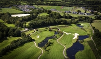 Golf course aerial picture