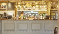 Refurbished bar at Riverside Hotel